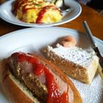 ブラウン シュガー - ●ホットドッグ&ミニケーキセット ●オムライス どちらにもドリンクが付きます