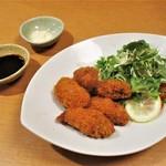 一久庵 - 牡蠣フライ 780円(税込)。     2018.10.08