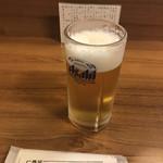 酒房 武蔵 - 生中(300円)
