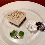 アンジェロ開成 - デザートのマロンムース