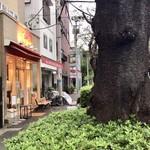 94472359 - 桜並木にぽつんとあるお店です