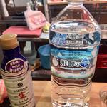 魚草 - お水はペットボトルで出して下さいます