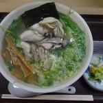 らーめん工房 魚一 - 料理写真:カキラーメン(塩・あっさり)1500円