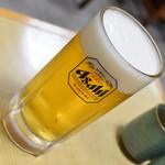 動坂食堂 - 生ビール・中(600円)2018年9月