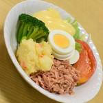 動坂食堂 - ツナサラダ(500円)2018年9月