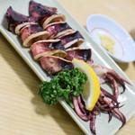 動坂食堂 - ムギイカ塩焼(450円)2018年9月