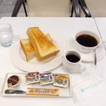 スノービーンズコーヒー - エチオピア エアロプレス702円、無料モーニングセット