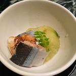 魚貝三昧 げん屋 - 先付け  さんまと山椒のコンフィ
