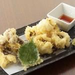 俺のやきとり - 鱧と松茸の天ぷら