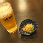 ふく留 - 生ビールです