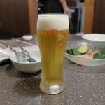 ふぐ蟹千年 - 生ビール