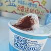 宮古島の雪塩 - 料理写真:ココア塩を振りかけたカップソフトクリーム