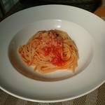 キッチンAIZU - 料理写真:Bコースの前菜(トマトパスタ)