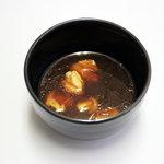 濱や - お好みで選べる特製のめんつゆの「金」。鳥がらスープと麺つゆの絶妙なコラボ、温かいスープです!