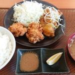 から好し  - 合い盛り定食・柚子胡椒(650円)