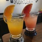 Cafe BAR MOKUBA - 生搾りオレンジ/グレープフルーツ