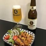 Cafe BAR MOKUBA - ドイツビールのレーベンブロイ、と五島のホルモン焼き