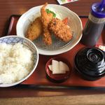 和風レストラン まるまつ - 料理写真:ミックスフライランチ