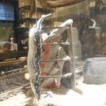 囲炉裏焼と蕎麦の店 うえ田 - 秋刀魚は串に刺されて炭焼きされてます