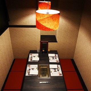 【完全個室】二人きりの特別な時間をゆっくりと時間が流れる個室でお楽しみください。