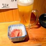 味登 - ビール&お通し