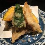 94514789 - 天ぷら(穴子、クエ、舞茸、南瓜、茄子など)