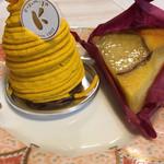 くるみや - 料理写真:・淡路島さつまいものタルト+淡路島かぼちゃのモンブラン