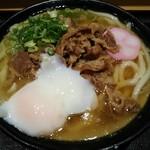 Nihombashisanukiudonhoshino - 肉うどん(温) + 温玉