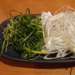 しゃぶしゃぶ温野菜 - ネギ2種