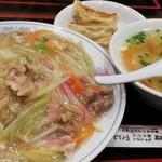 出島 - 太麺皿うどん¥730+Cセット¥270
