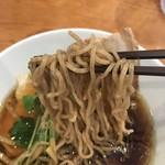 煮干中華 ゆきと花 - 石臼挽き中華そばの麺