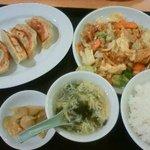 福泰厨房 - 201109 福泰厨房 ホイコーロー定食+餃子