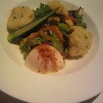 ダンテス - 帆立とトウモロコシとお魚のフリット サラダ仕立て