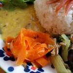 タマガワカリードットコム - ダルカレーと野菜の副菜。優しいお味です。
