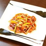 中国料理 かなめ - 国産豚フィレ肉の酢豚(アラカルト)