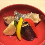 鯖と野菜の揚げ出し