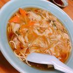 香蘭亭 - サンマーメン¥650.-。美味しい‼︎上の野菜のあんが優しい味✨麺は縮れ麺で少し硬めで私は好きです♡