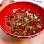 香蘭亭 - 炒飯にはスープが付いて来ます。