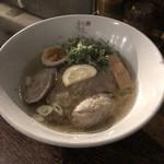 龍旗信 - 鶏と鴨だしの塩そば900円限定メニュー