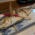 旬魚菜 しら川 - アジ塩焼き