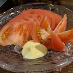 旬魚菜 しら川 - トマト