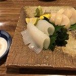 鮨遊膳 みのり - 追加のイカ刺しとホタテ刺し(^^)