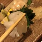 鮨遊膳 みのり - イカに塩をつけて・・・(^^)