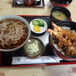 京屋 - 料理写真:かけ&天丼