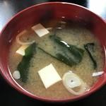 Resutorannarumi - オプションの味噌汁