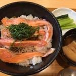 たっぽ家 - 魚沼美雪ますの炙り丼 1080円