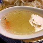 こりく - 海老塩ラーメン  スープ