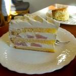ラ・パレット - 桃のショートケーキ。
