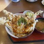 一力 - 料理写真:今回は「穴子天丼」950円を注文することにしました。