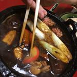 楽 - 鳥スープと特製八丁味噌